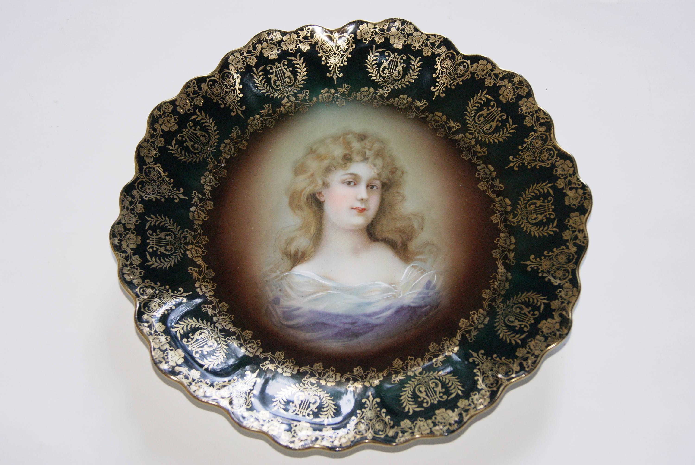 Royal Vienna ZEH SCHERZER ZS And Co Porcelain Portrait Plate Artist Signed Gracioga